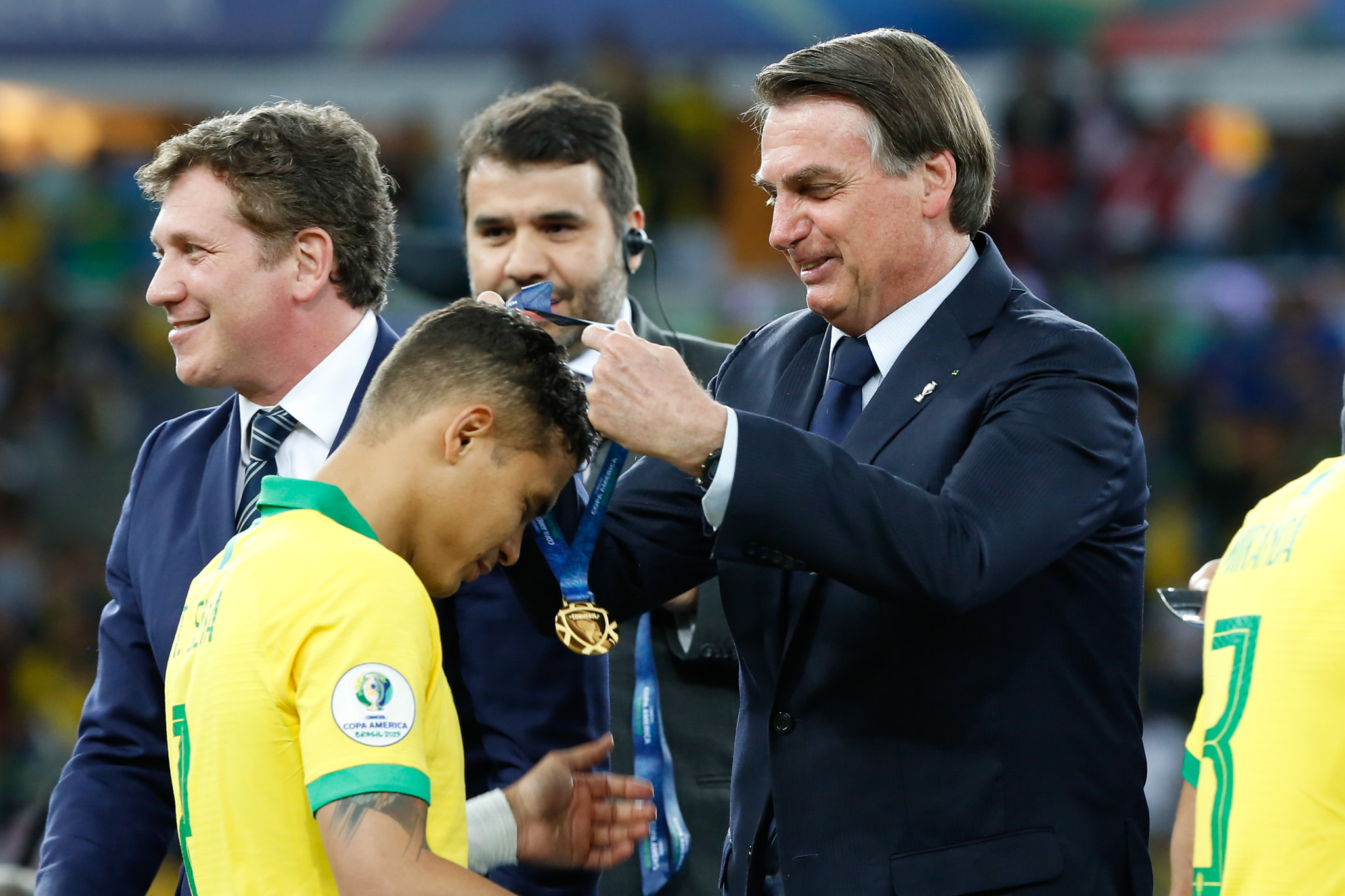 Presidente da República, Jair Bolsonaro, na Copa América