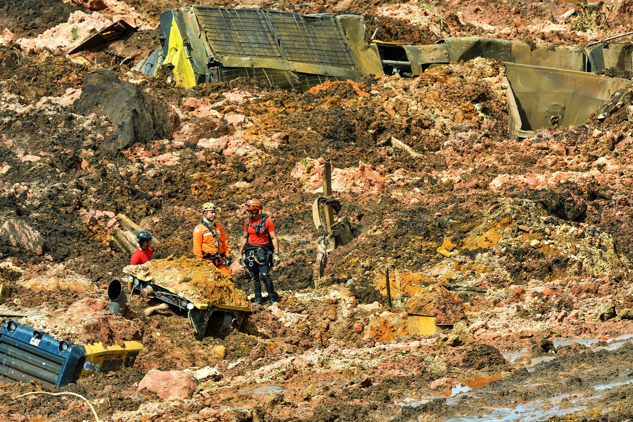 Brumadinho, após rompimento da barragem de Feijão
