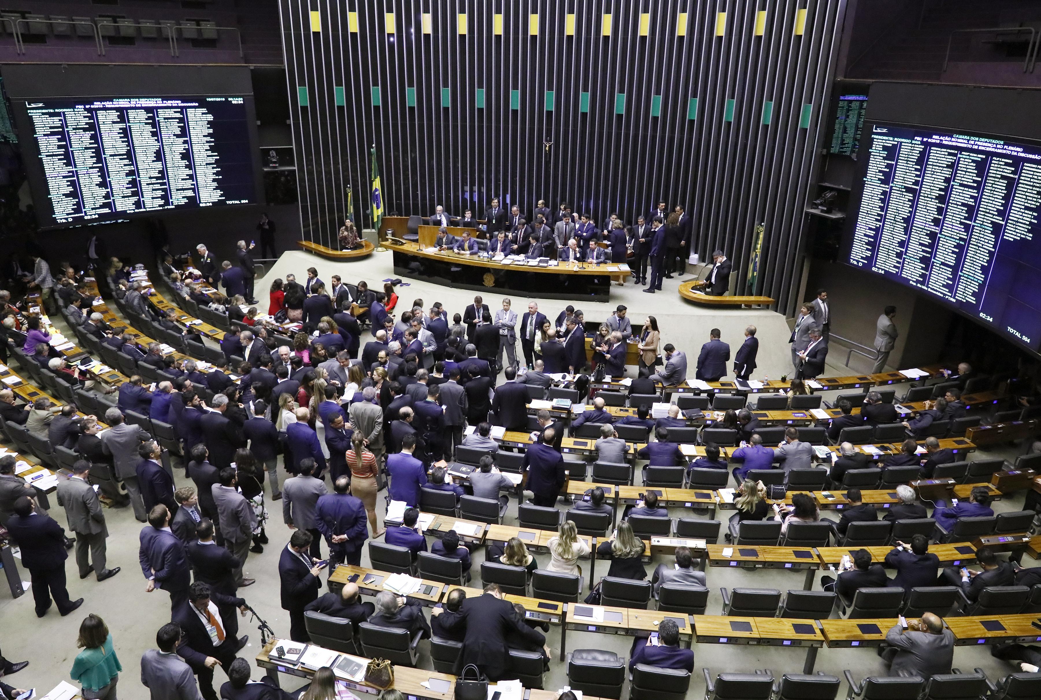 Câmara dos Deputados votação