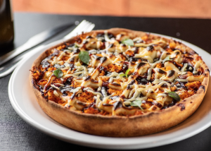 "Pizza ""Oprah"", do restaurante Chicago Pizzaria"