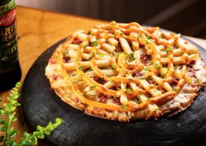 """Pizza """"de Batatinha"""", do Disk Pizza Paulista"""