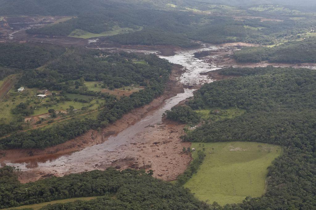 Área atingida pelo rompimento da barragem em Brumadinho
