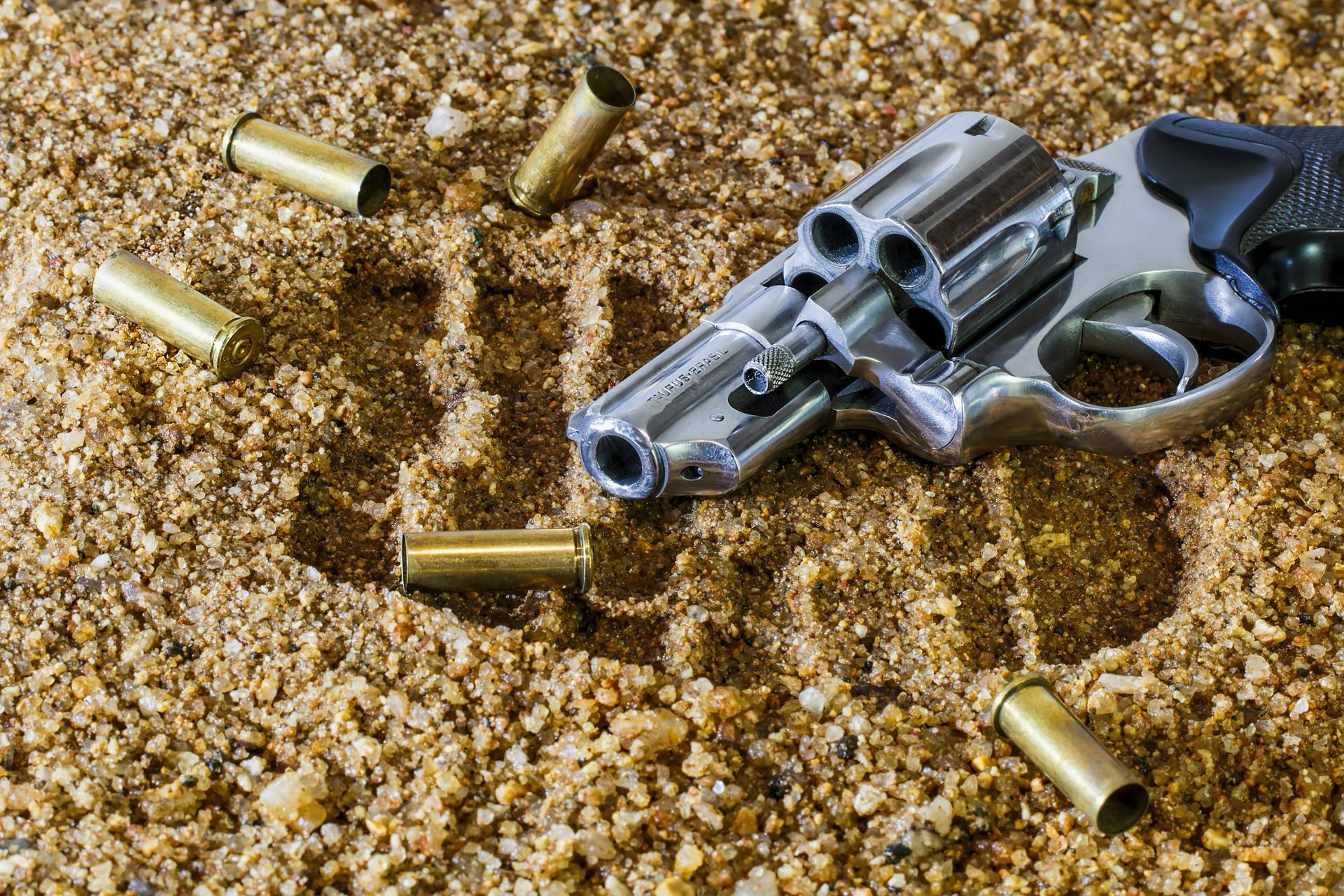 Arma de fogo; violência; homicídio. Foto: Pixabay