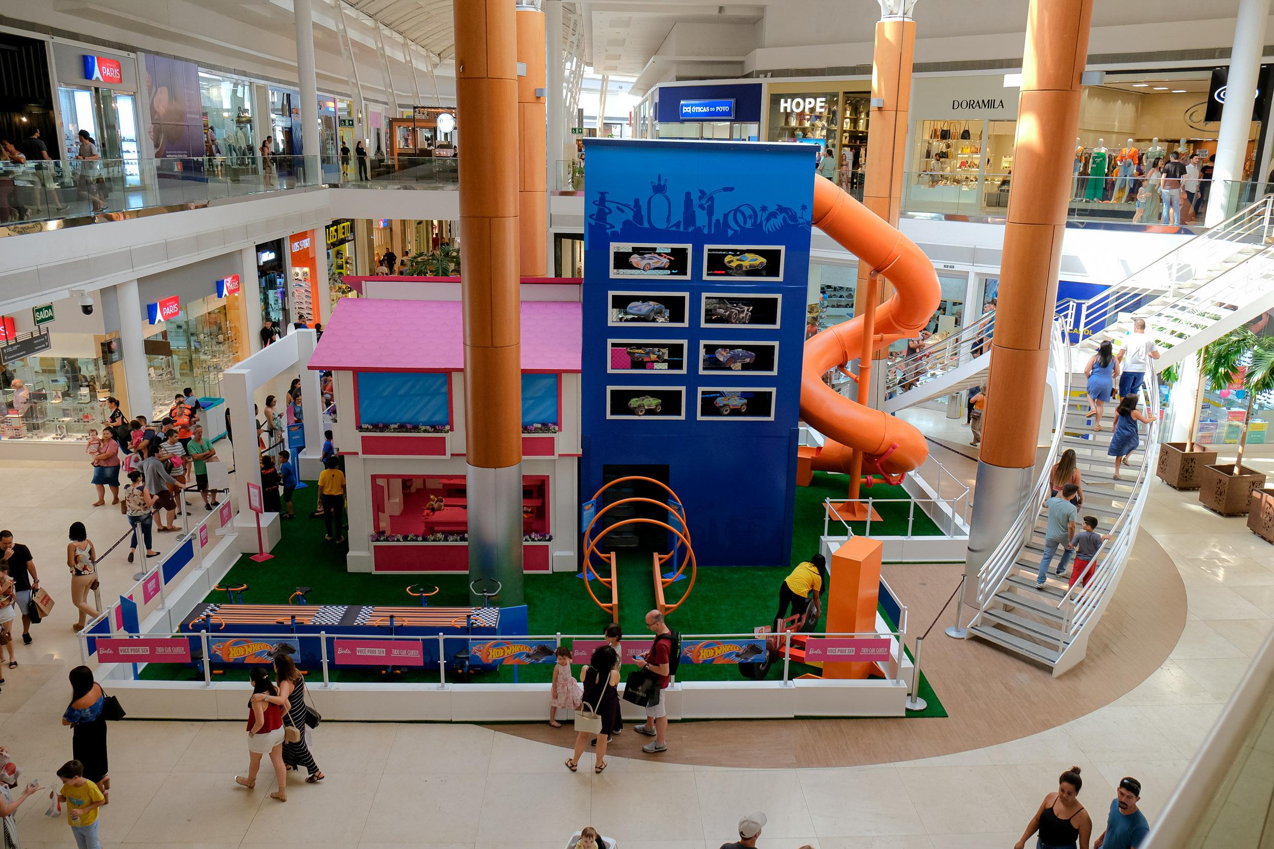 O parque temático inspirado no mundo de Barbie e Hot Weels ficam no shopping Vitória, na capital, até o dia 20 de outubro. Foto: Divulgação