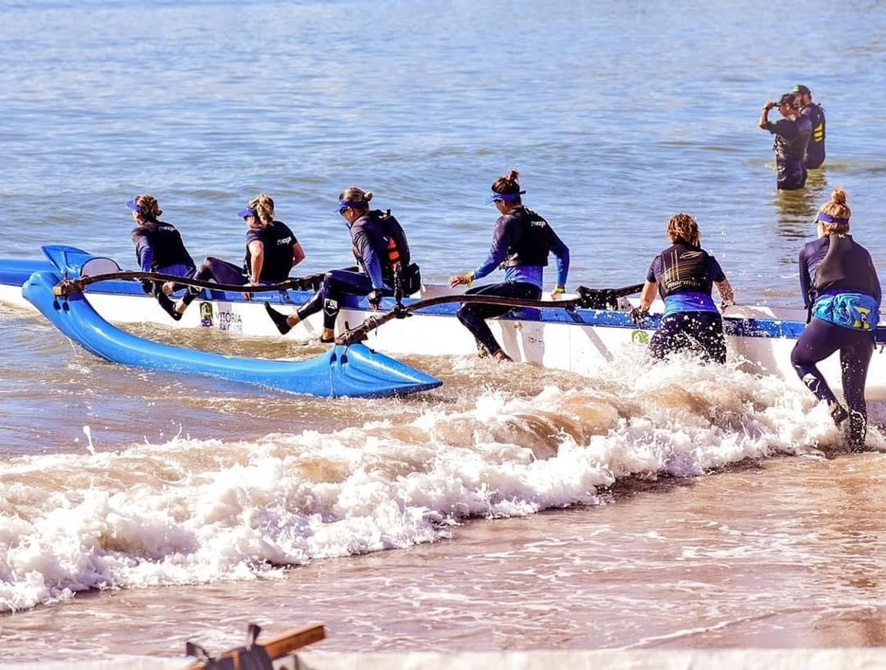 Campeonato de Canoa Havaiana acontece em Vitória. Foto: Divulgação