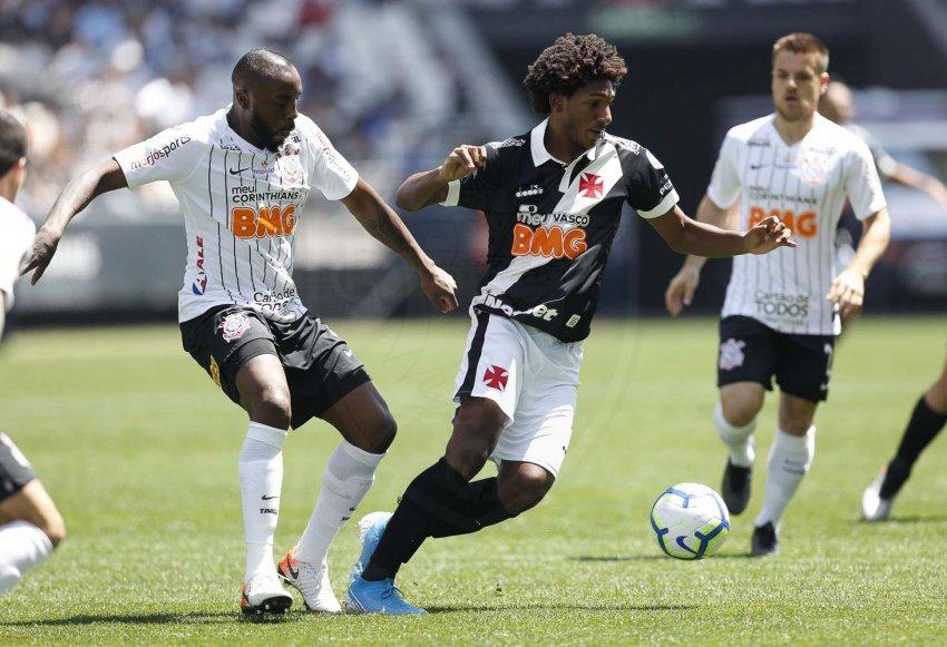 Corinthians aos 13 minutos do segundo tempo. O resultado deixa a equipe com 38 pontos, em quarto na tabela. Foto: Rafael Ribeiro/Vasco