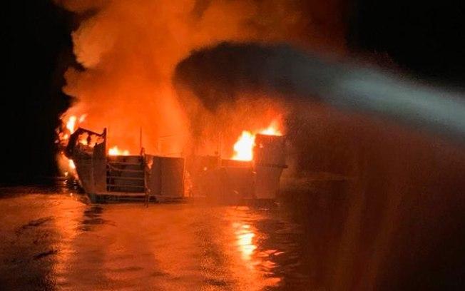 Incêndio em embarcação na Califórnia deixa pelo menos 25 mortos. Foto: Divulgação/SCFD