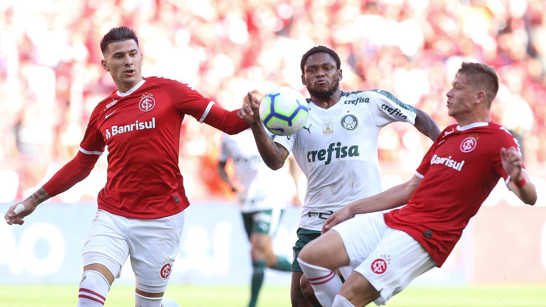 Patrick abriu o placar para o Internacional, 27 minutos do primeiro tempo; e Willian empatou para o Palmeiras aos 12 da segunda etapa. Foto: Sociedade Esportiva Palmeiras