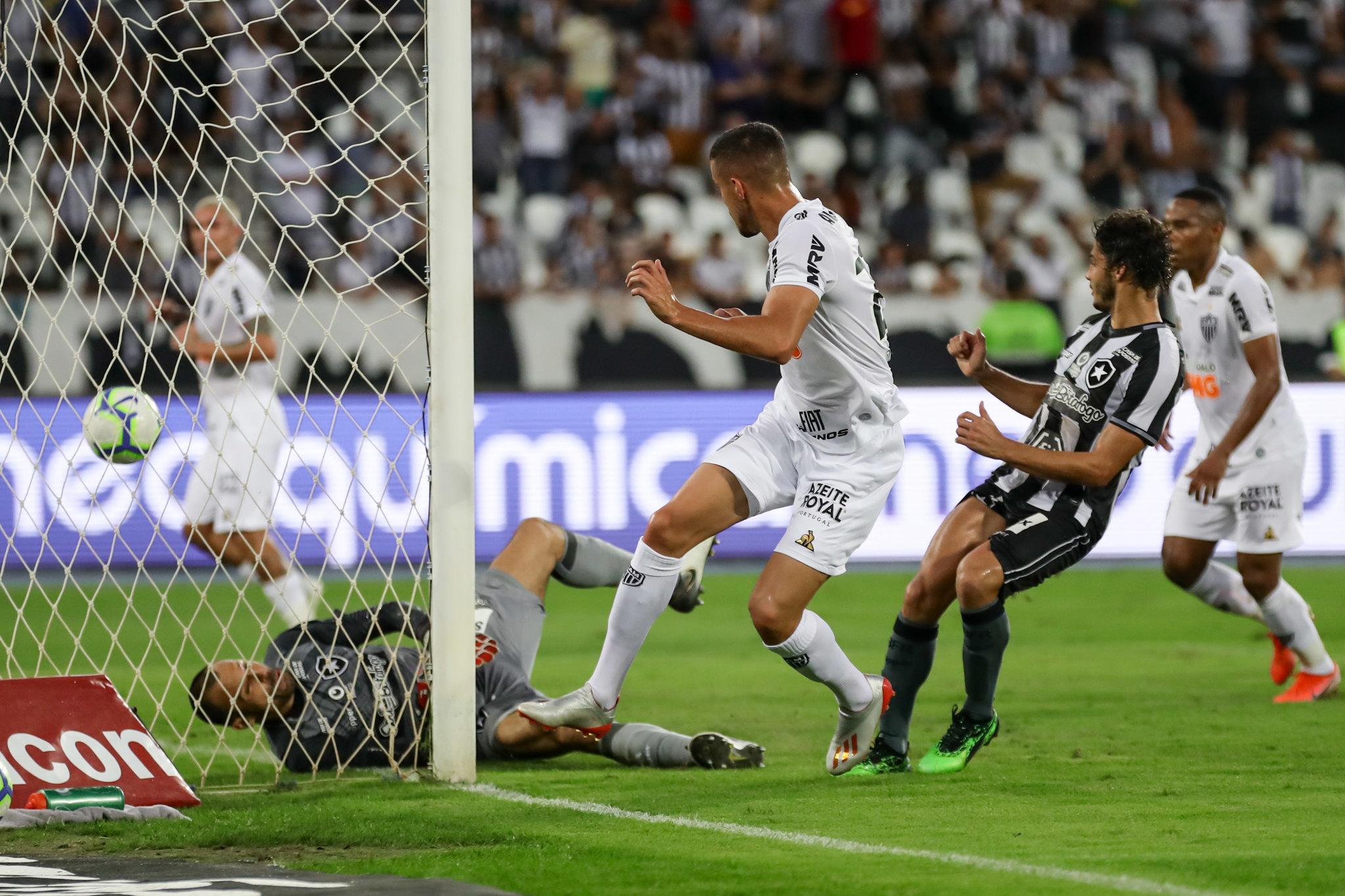 Jogo entre Botafogo x Atletico-MG no Estádio Nilton Santos pelo Campeonato Brasileiro 2019. Foto: Bruno Cantini / Atlético