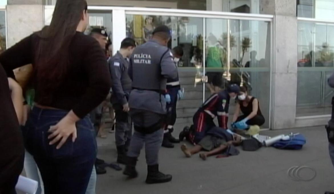 Morador de rua é morto em Jardim da Penha. Foto: Reprodução/TV Capixaba