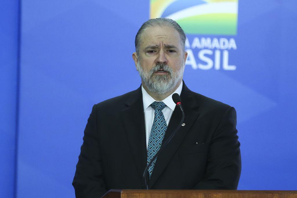O novo procurador-geral da República, Augusto Aras, durante cerimônia de posse no Palácio do Planalto. Foto: José Cruz/Agência Brasil