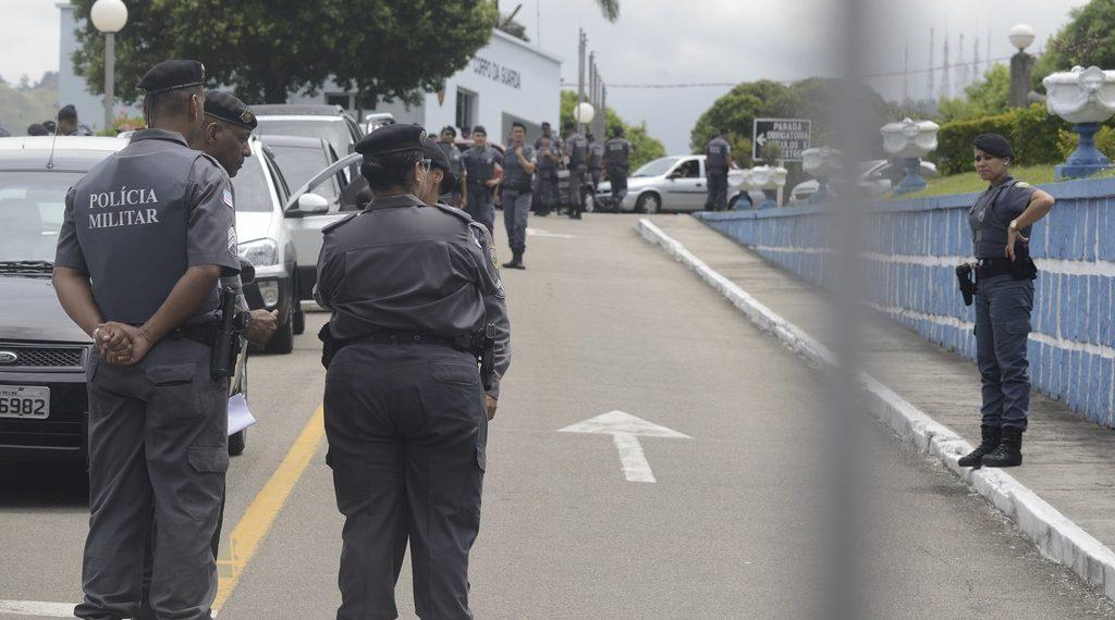 Polícia Militar no Quartel de Maruípe, em Vitória. Foto: Chico Guedes