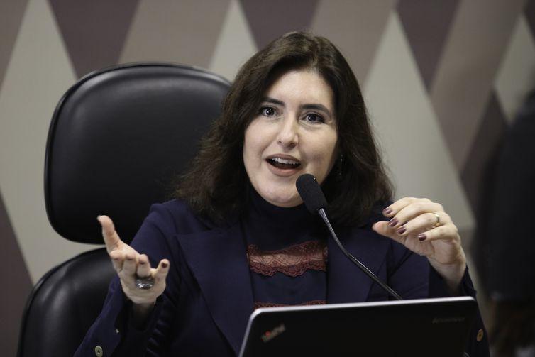 Senadora Simone Tebet, presidente da Comissao de Constituição e Justiça do Senado, anunciou adiamento de votação de emendas de plenário. Foto: Arquivo/Agência Brasil