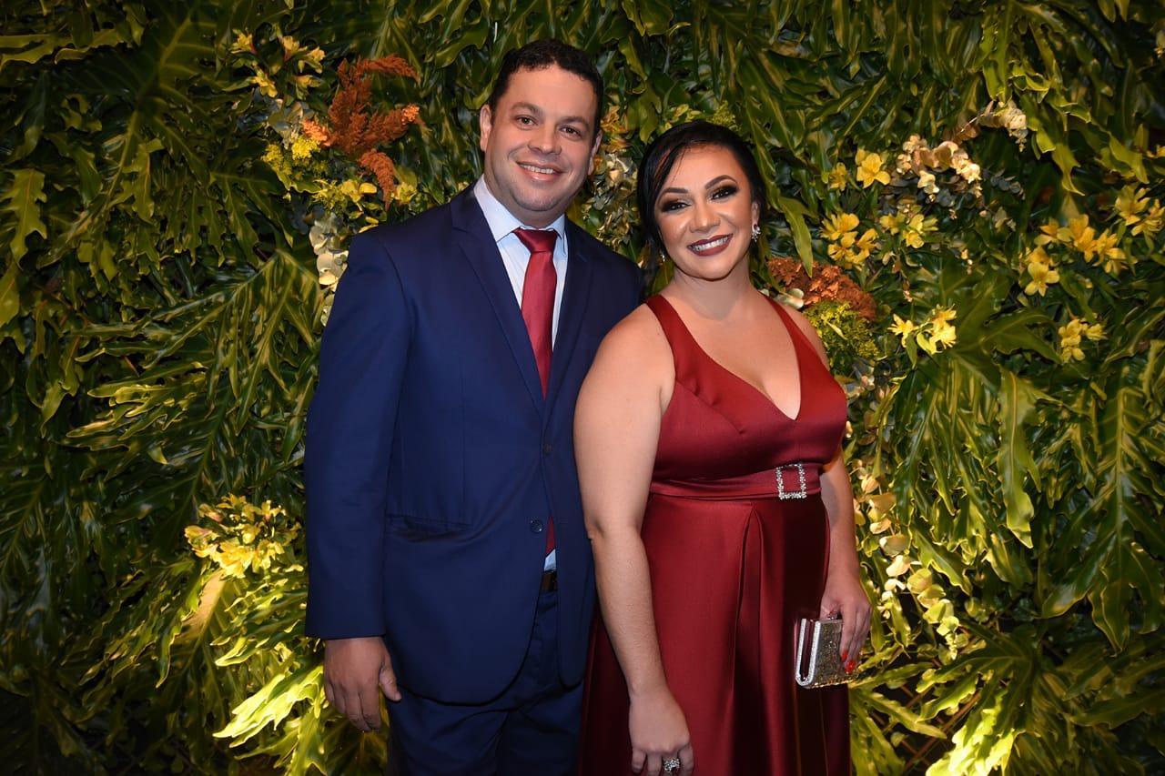 Os idealizadores do Prêmio Valor Empresarial de Vila Velha: Nerinho Teixeira e Aline Campos. Foto: Cloves Louzada
