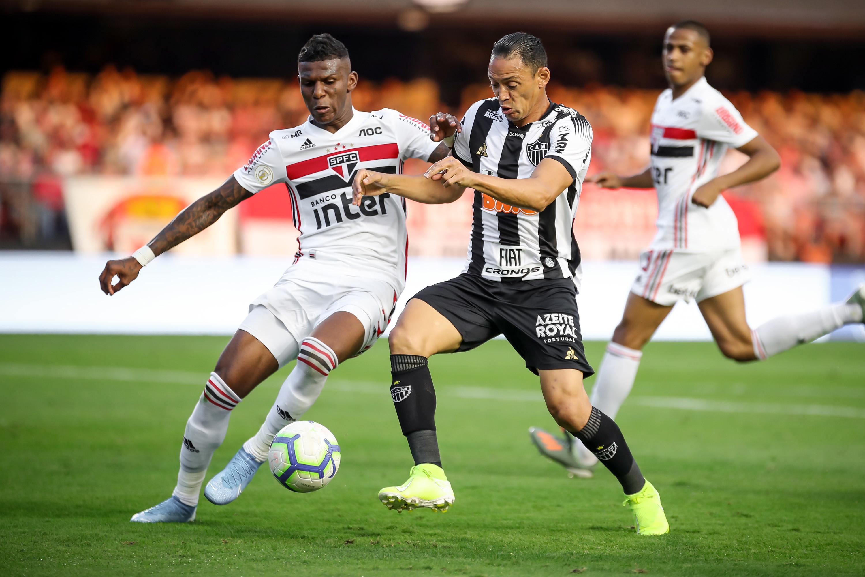 Igor Gomes abriu o placar para o São Paulo aos 5 minutos e Vitor Bueno ampliou aos 11 do segundo tempo. Foto: Bruno Cantini / Atlético