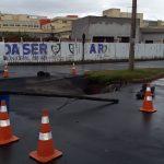 Parte das ruas Barão do Rio Branco e Acácias foram bloqueadas. Foto: Ouvinte BandNews FM ES