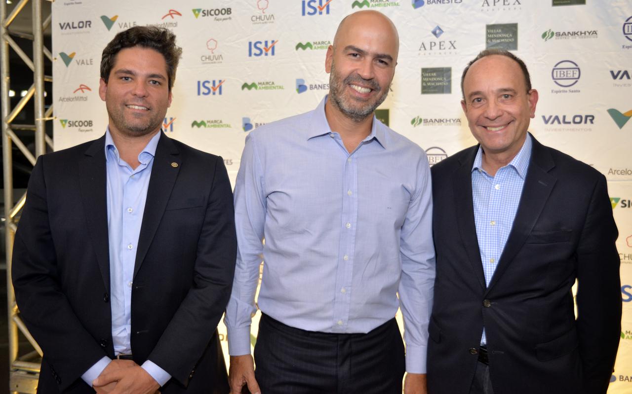 Ibef Hour: Márcio Furtado, Michel Sarkis e Sérgio Sotelino. Foto: Divulgação