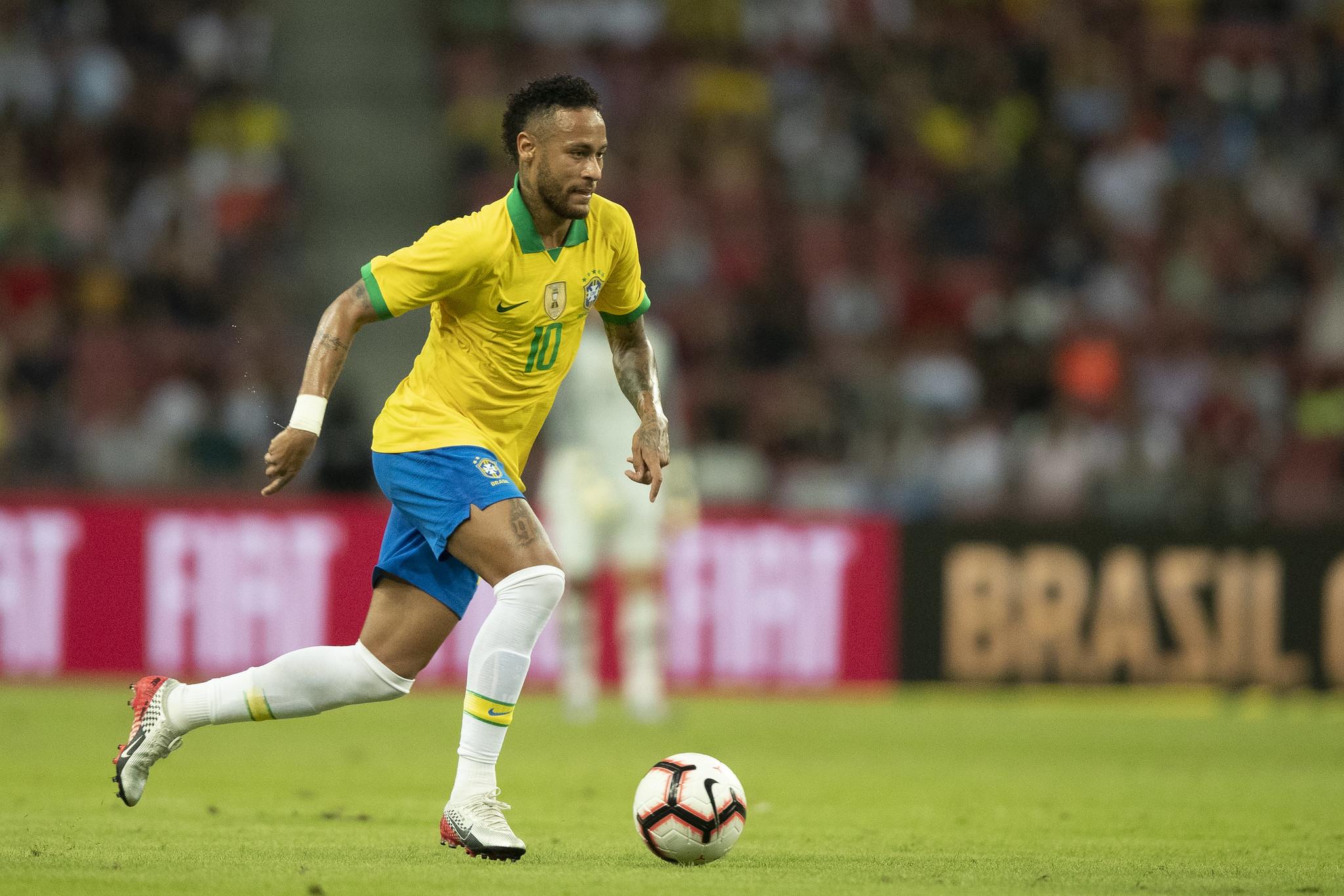 Nos últimos dois anos, Neymar tem sofrido com contusões. Ele fraturou o quinto metatarso duas vezes, uma em 2018 e outra no início deste ano, e sofreu com duas lesões no tornozelo. A última o tirou da Copa América. Foto: Lucas Figueiredo/CBF