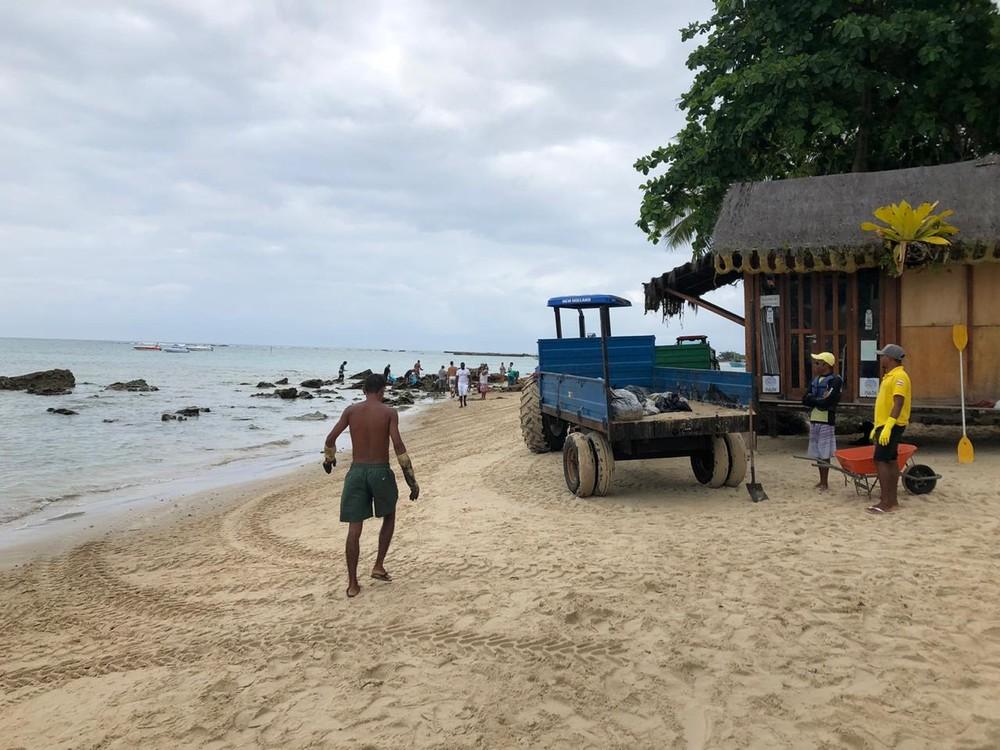 Óleo atinge Praias de Cairu, na Bahia. Foto: Divulgação/Prefeitura