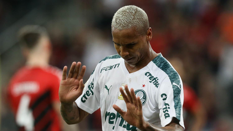 Deyverson (foto) comemorou de forma discreta o gol marcado por ele no empate contra o Athlético-PR. Foto: Divulgação/Sociedade Esportiva Palmeiras