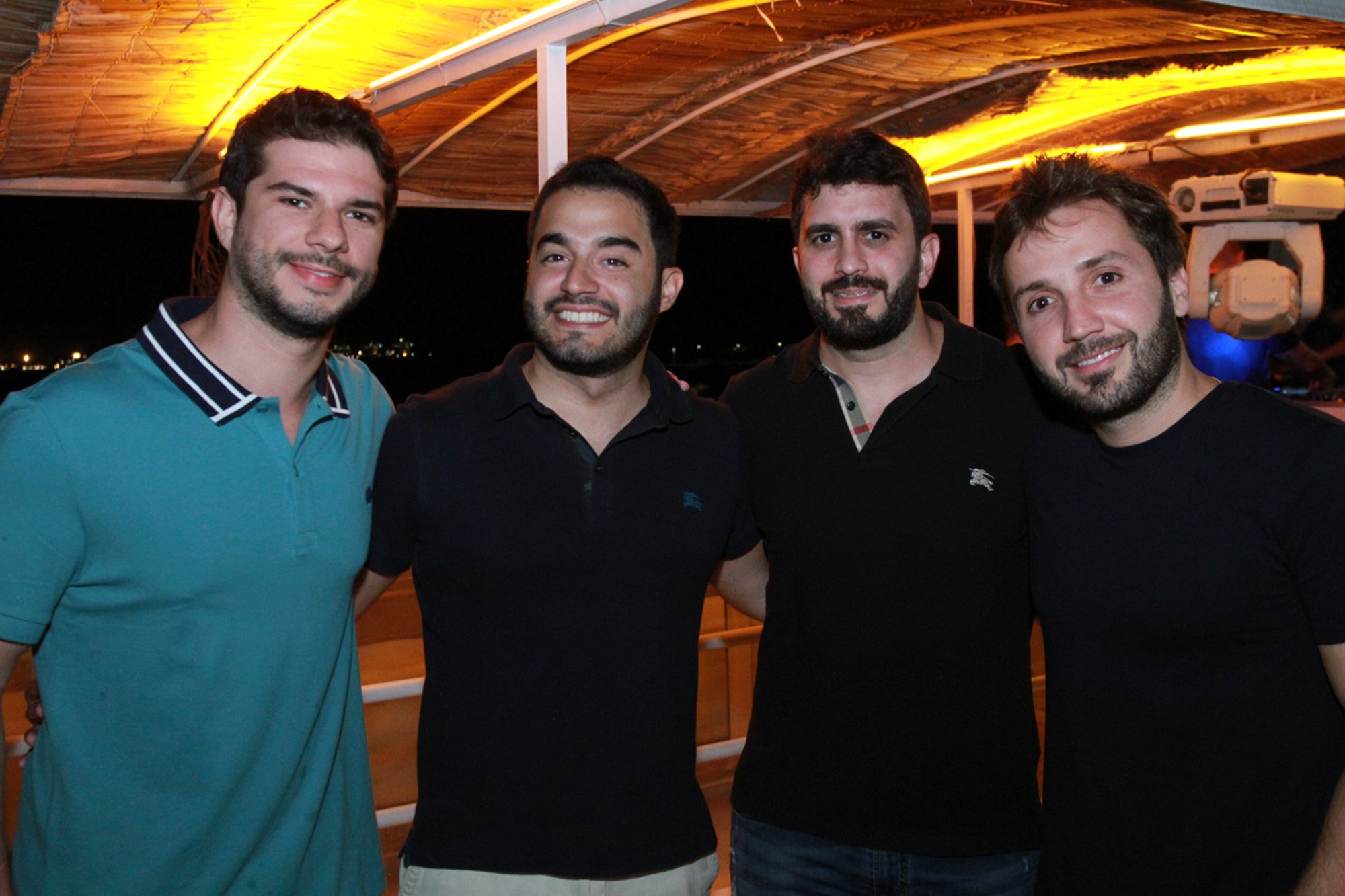 Os responsáveis pelo sucesso da CasaSounds: Pedro Martins, Raphael Tristão, João Resegue e Lucas Fittipaldi. Foto: José Augusto Tovar