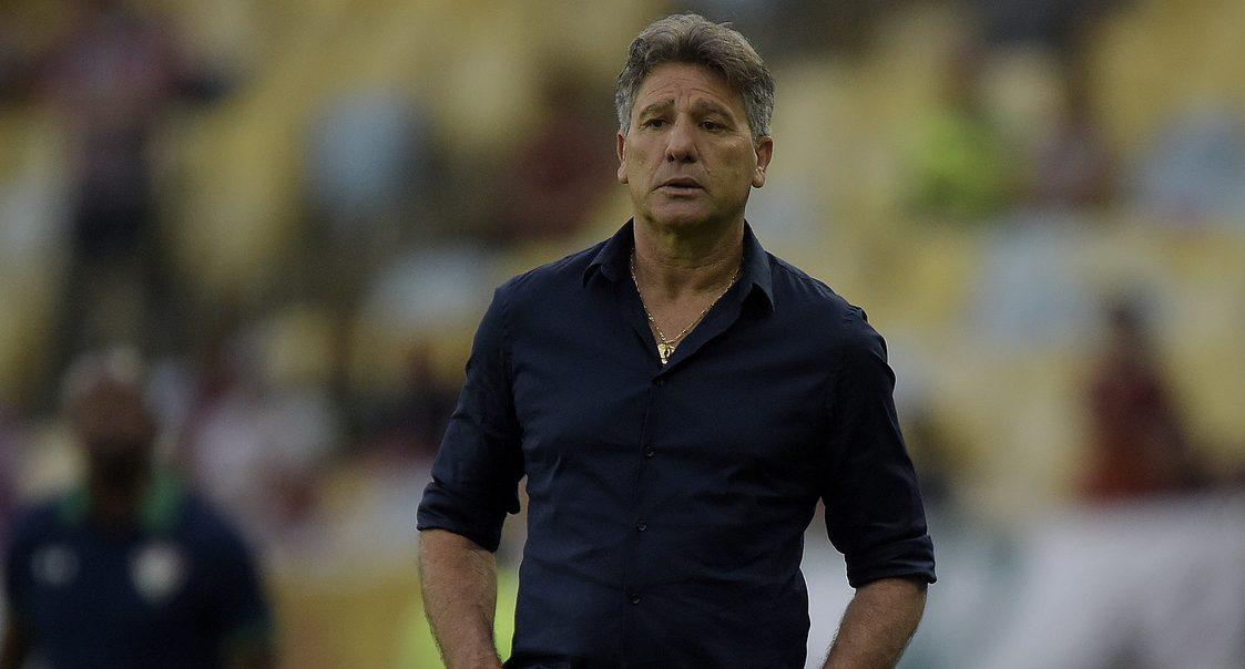 """Renato Gaúcho reconheceu a qualidade do Flamengo, mas ressaltou que os gols foram marcados em erros do Grêmio. """"Agora é levantar a cabeça^, disse o técnico. Foto: Divulgação/Grêmio Oficial"""
