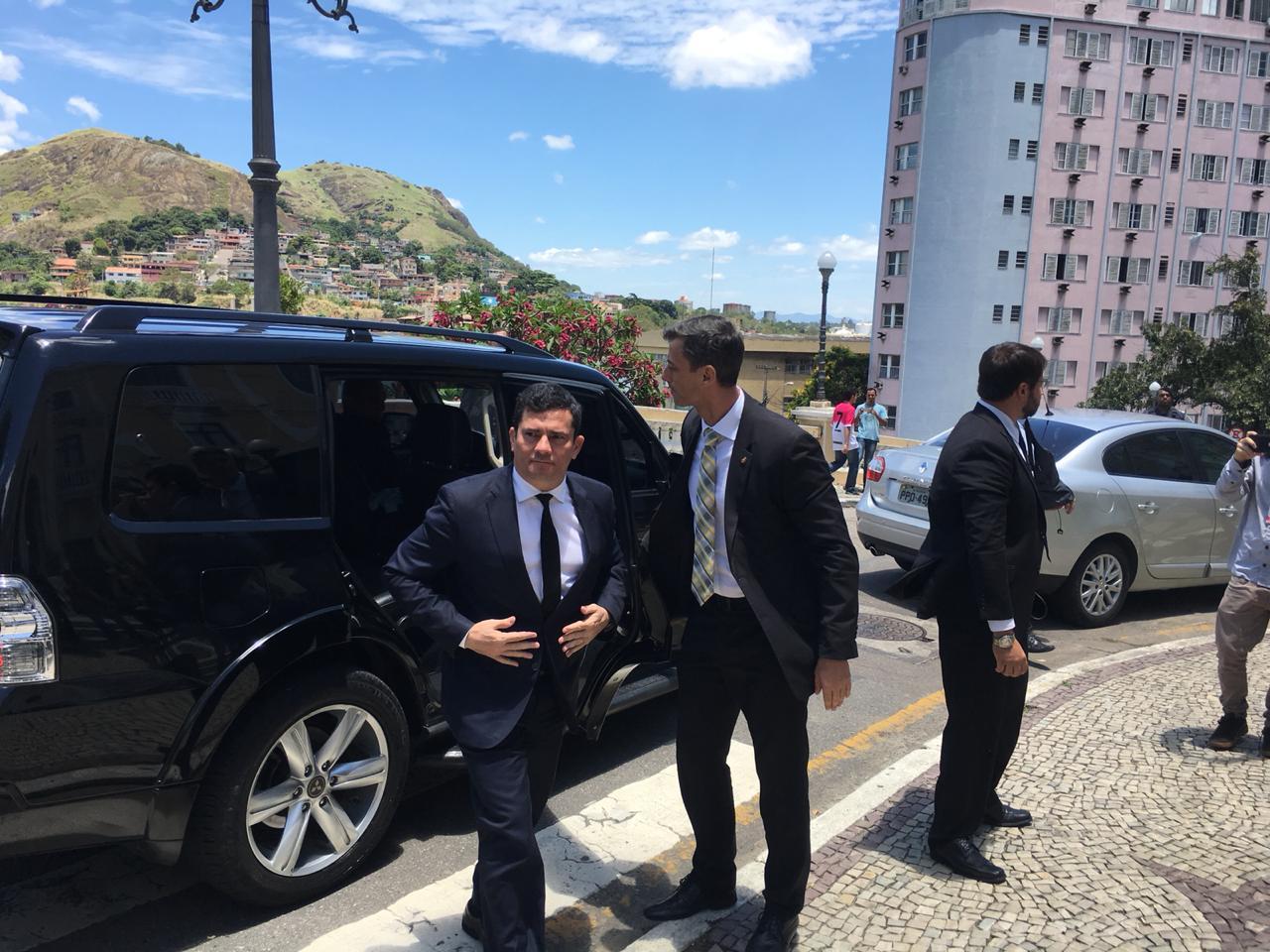 Sérgio Moro em visita ao Espírito Santo. Foto: Leandro Nossa/Band News FM