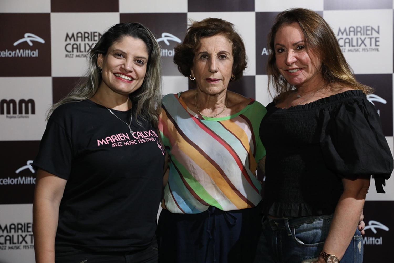 Simone Marçal, Terezinha Calixte e Rose Frizzera: noite de Marien Calixte Jazz Music Festival, no Bairro República. Foto: Claudio Postay