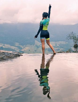 A cabeceira da Cachoeira da Prata visual deslumbrante. Foto: Arquivo pessoal