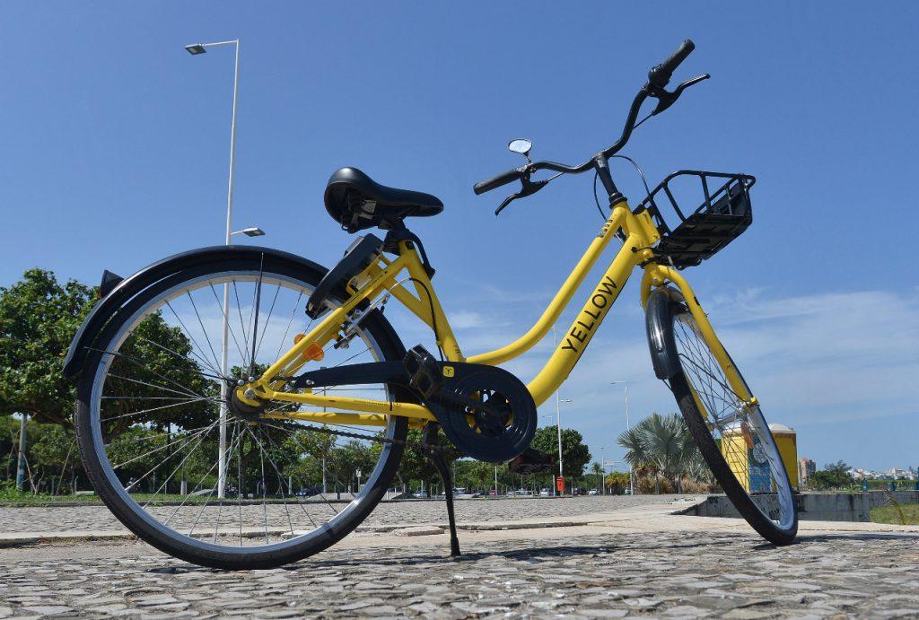 Bicicleta compartilhada da Yellow. Foto: Chico Guedes