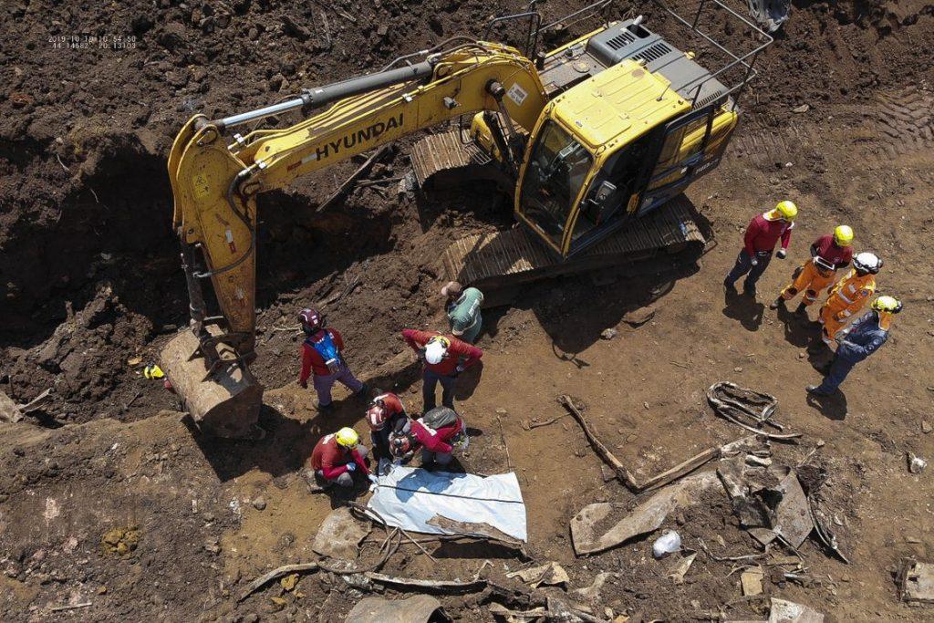 O Corpo de Bombeiros de Minas Gerais informou hoje (19) que encontrou o corpo de mais uma vítima do rompimento da barragem da Mina Córrego do Feijão, em Brumadinho, na região metropolitana de Belo Horizonte. Foto: Divulgação/Corpo de Bombeiros de Minas Gerais