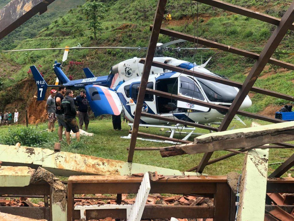 Homem morre após deslizamento de terra em Santa Leopoldina. Foto: Internauta