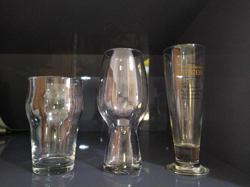 Pint, IPA Glass e Pilsen. Foto: Divulgação