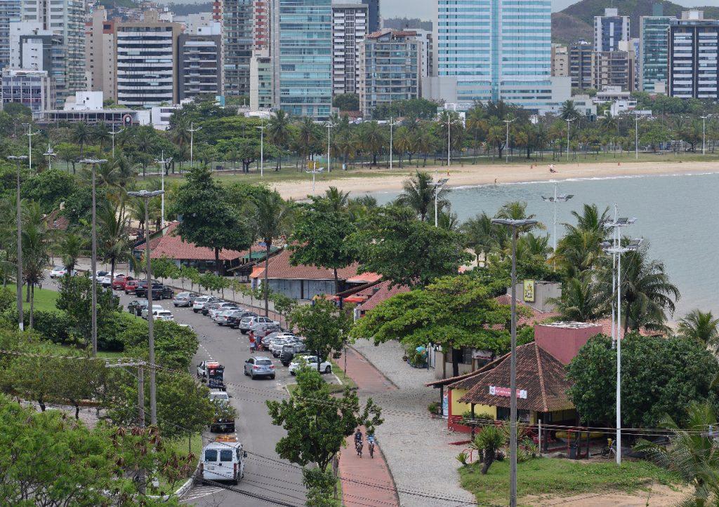 Vista aérea da Curva da Jurema, em Vitória. Foto: Chico Guedes