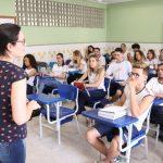 Alunos; professores; escola. Foto: Divulgação/Sedu