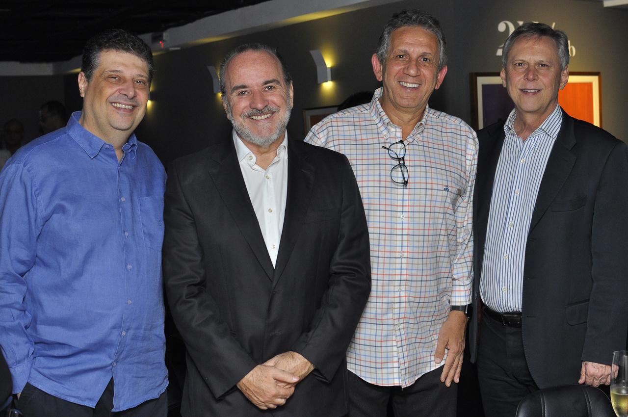 Antonio Carlos Leite, Antonio Camilo, Otacílio Pedrinha e Carlos Magalhães. Foto: Pepê
