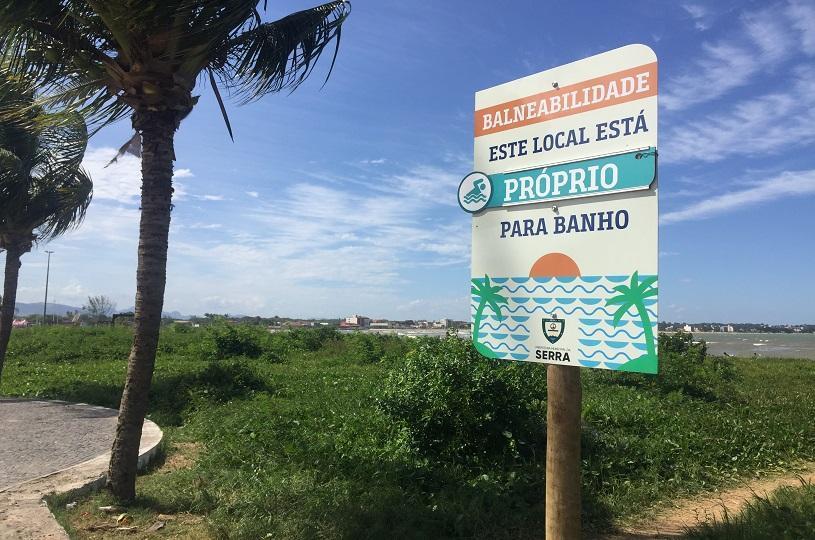 Balneabilidade na Serra. Foto: Divulgação/PMS