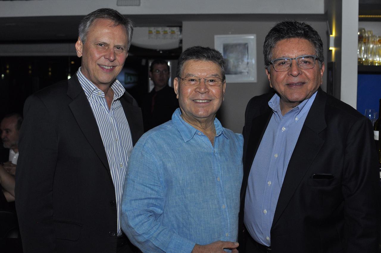 Carlos Magalhães, Celso Siqueira e Walter Cavalcante Júnior. Foto: Pepê