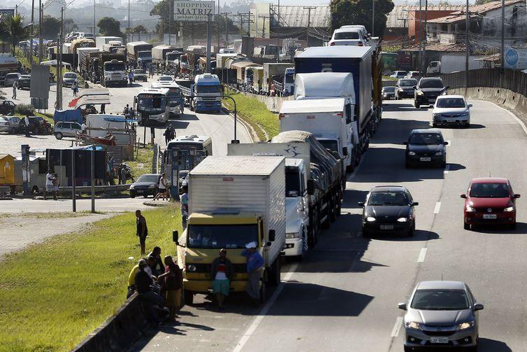 Greve dos caminhoneiros em maio de 2018. Foto: Thomaz Silva/Agência Brasil