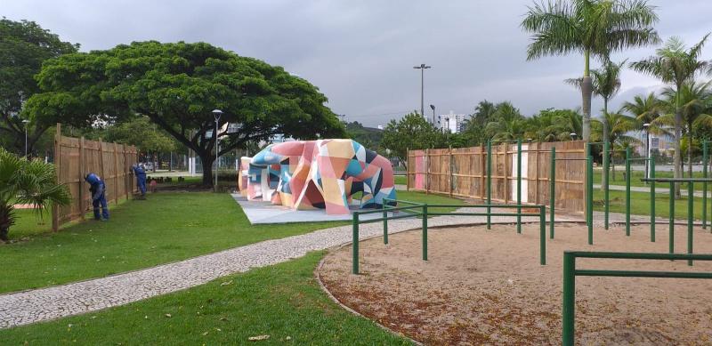 Restauração do Monumento Vitória 360º. Foto: Divulgação/PMV