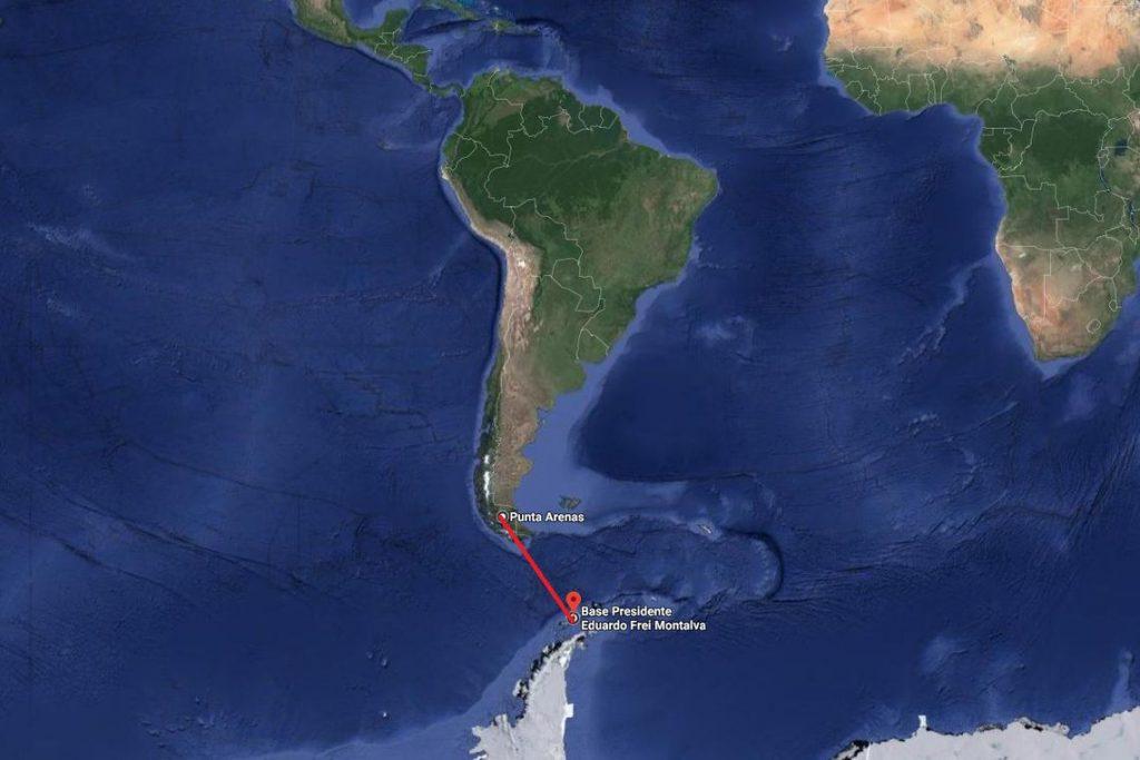 Nacio brasileiro encontra destroços de avião chileno. Foto: Reprodução/Google Maps