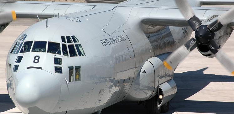 O avião modelo Hércules C-130 cumpria tarefas de apoio logístico na base Eduardo Frei, a maior do Chile na Antártida. Foto: Reprodução/Fuerza Aérea de Chile