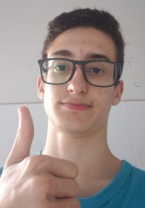 O estudante João Pedro Calenzani Marinho passou em primeiro lugar no processo seletivo do Ifes 2020. Foto: Arquivo Pessoal