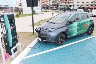 Posto de recarga de veículos elétricos é inaugurado em Guarapari. Foto: Divulgação/EDP