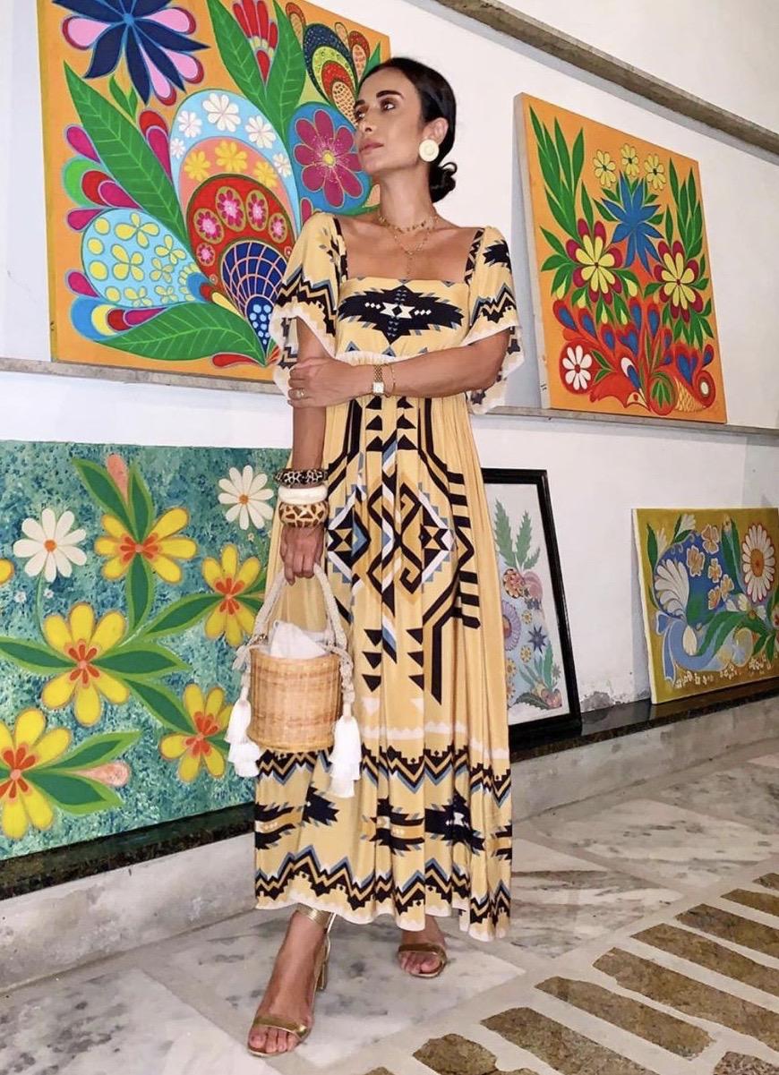 A influencer Silvia Braz prestigiou o jantar do Guaramare, em Guarapari. Foto: Ricardo D Ângelo