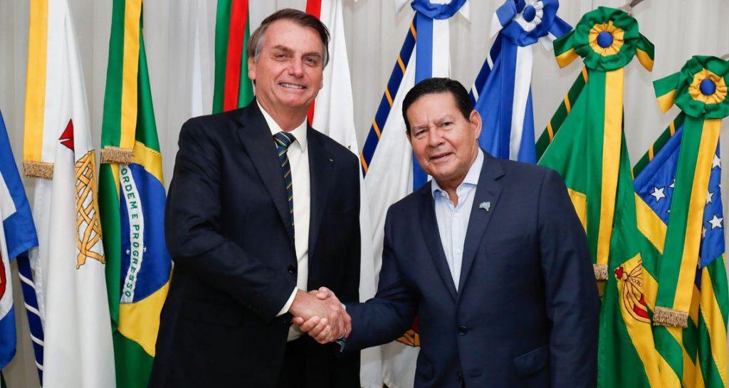 Presidente da República, Jair Bolsonaro e o Vice-Presidente, Hamilton Mourão. Foto: Alan Santos/PR Foto: Alan Santos/PR