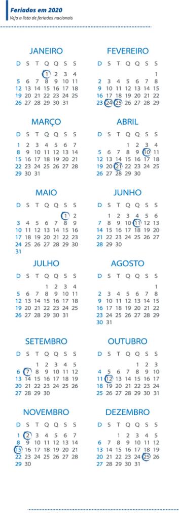 Dez feriados poderão ser emendados com sábados e domingos. Foto: Agência Brasil
