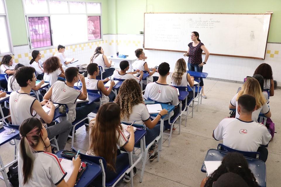 Sala de aula, sala, estudantes, escola. Foto: Divulgação/Governo do Espírito Santo