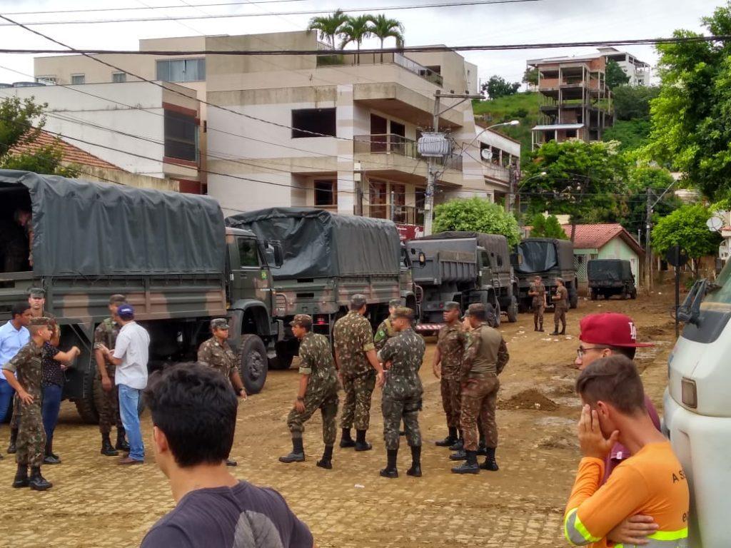 Exército chega em Iconha, no sul do Espírito Santo. Foto: Divulgação/Prefeitura de Iconha