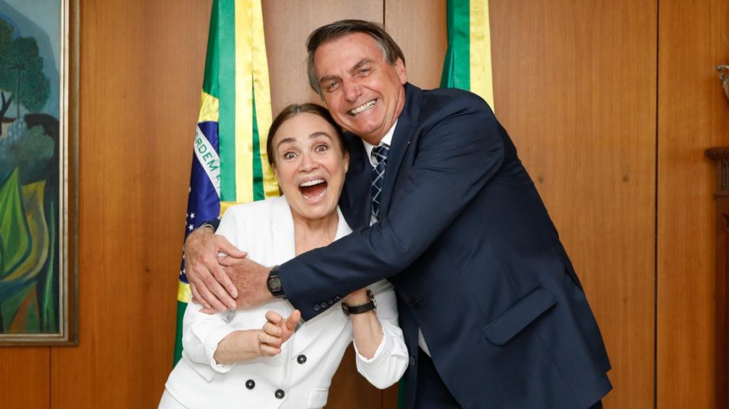Regina Duarte se reúne com Bolsonaro no Palácio do Planalto. Foto: Reprodução/Twitter/Palácio do Planalto